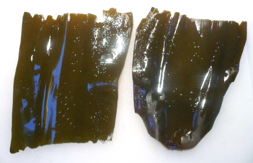 Kombu seaweed soaked overnight