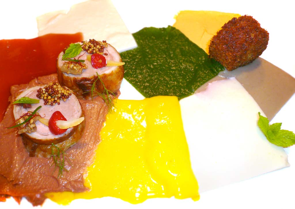 Alinea Restaurant recipe for Lamb, In Cubism