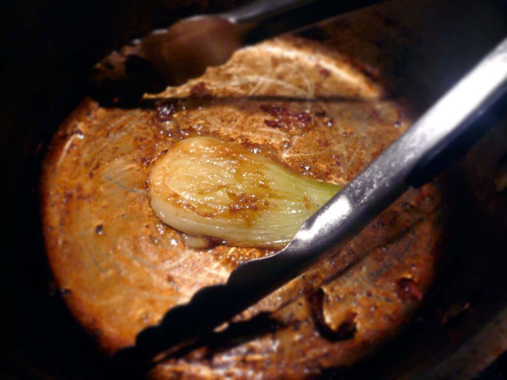 Searing fennel in butter