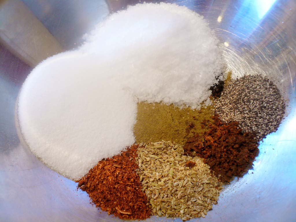 Spices in a root beer cure