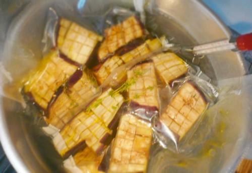Cooking eggplant sous vide