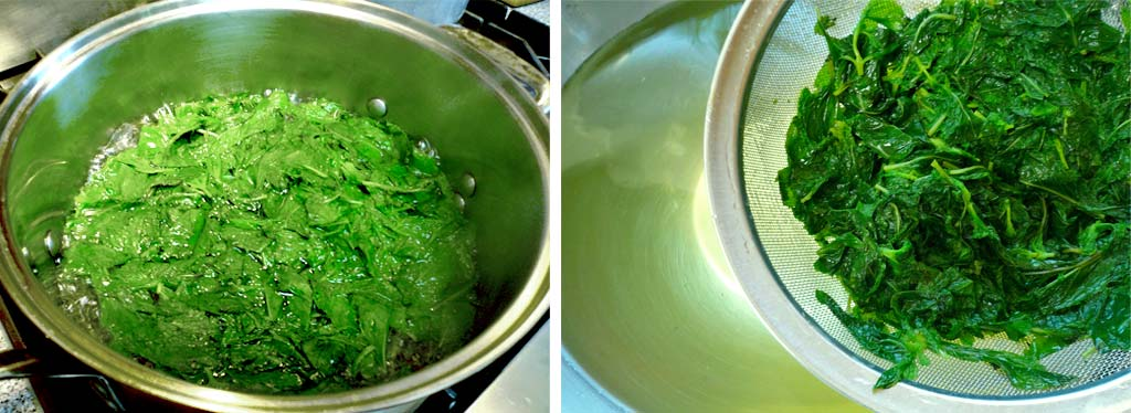 Blanching the mint