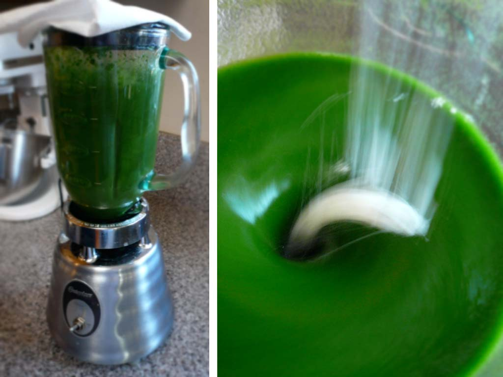 Thickening the mint pudding with Ultra-Tex 3