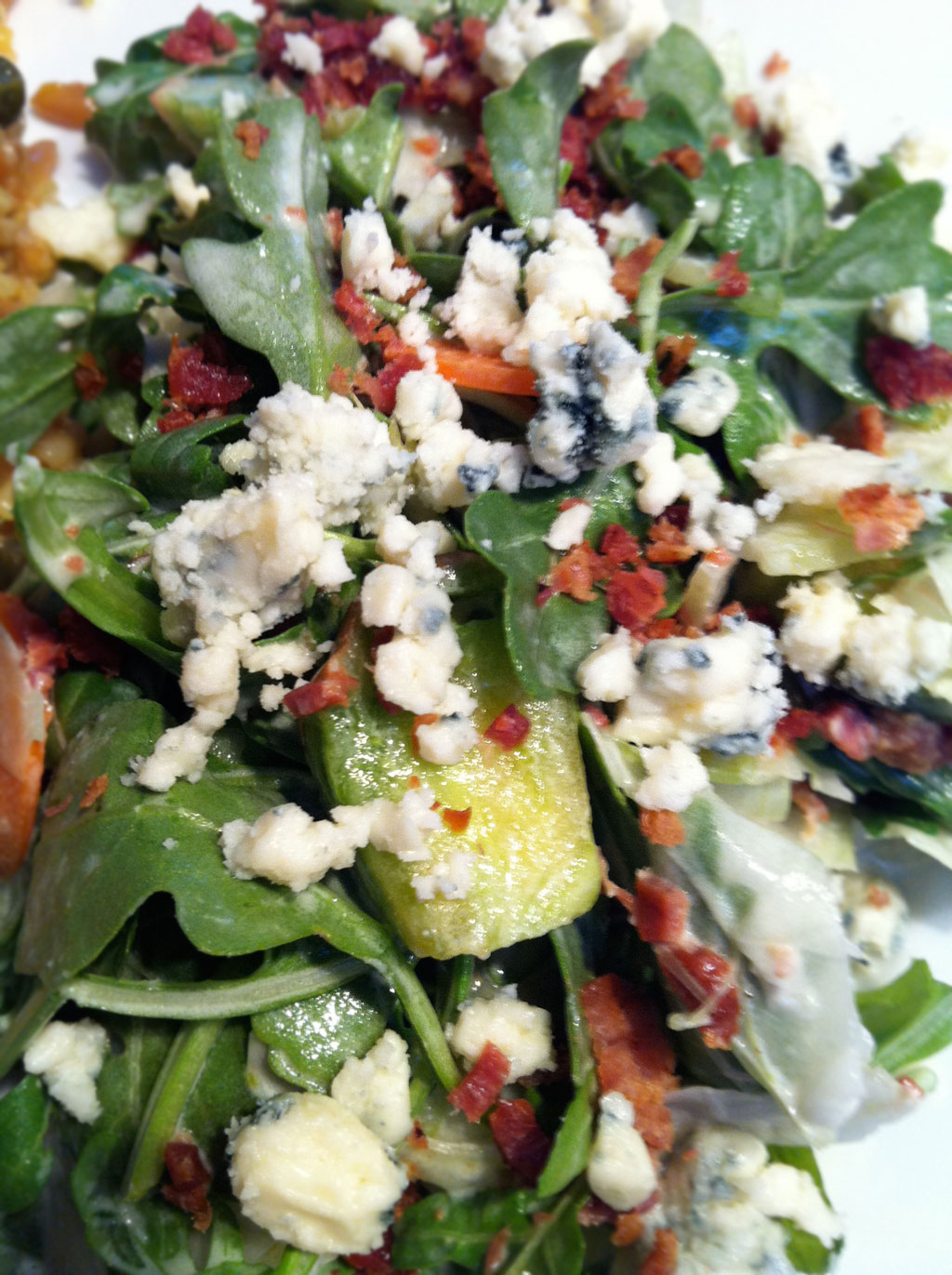 Maytag Blue and arugula salad