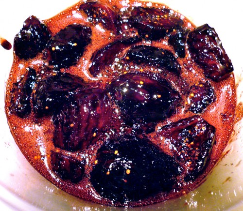 Black Mission figs braised in Ruby Port wine