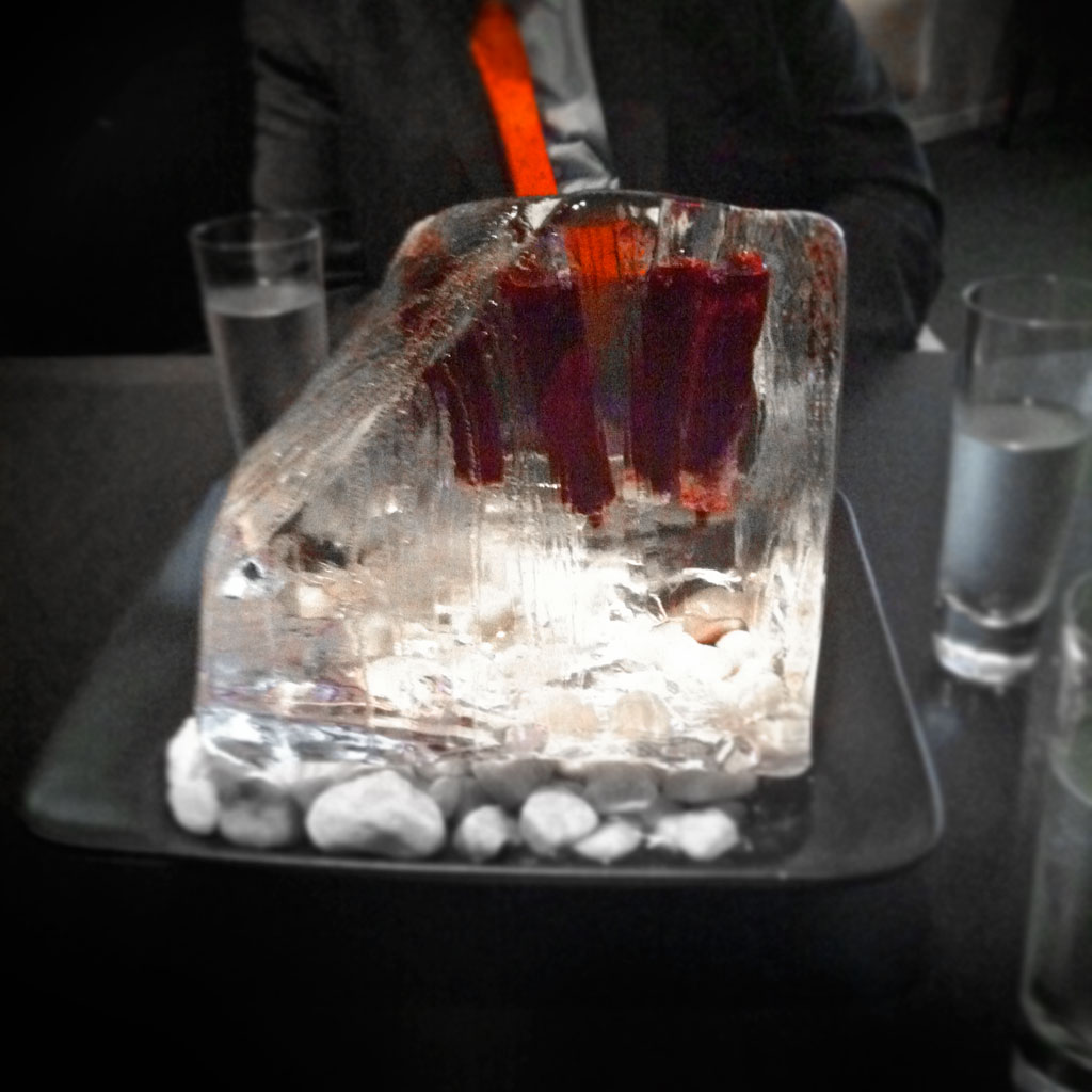 Ice block centerpiece