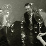 Trying out the helium balloon dessert