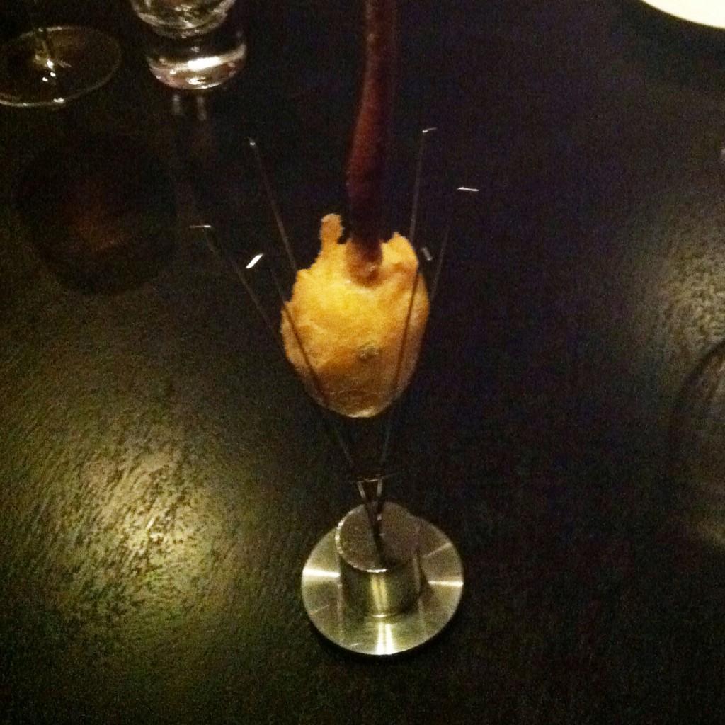 Alinea Recipe: Anjou Pear, onion, brie, smoking cinnamon