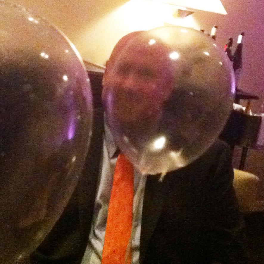 Balloon, Helium, Green Apple