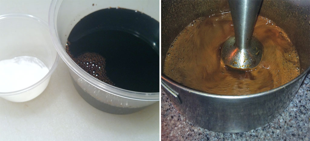 making soy sauce pudding