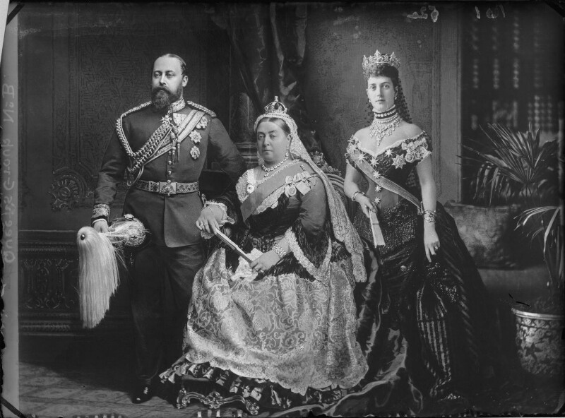 King Edward VII, Queen Victoria and Queen Alexandra
